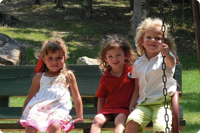 girls on swing at flat rock blog