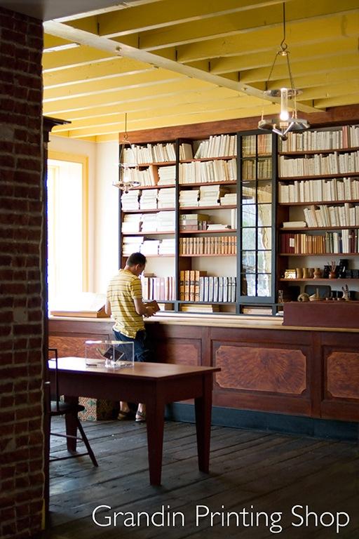 Aaron Grandin printing shop