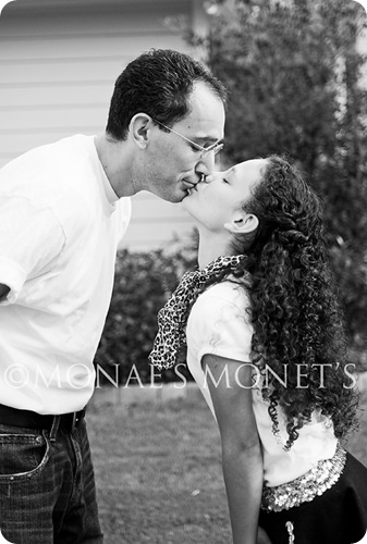 Brianna kissing daddy blog