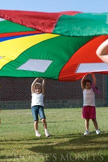 Erika holding parachute blog