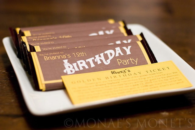 Brianna's birthday invitation blog