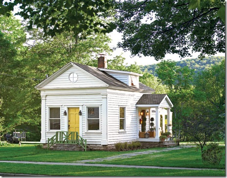 schoolhouse turned cottage