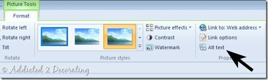 How to add alt text to a photo using Windows Live Writer