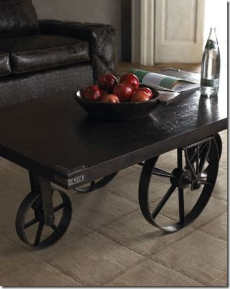 horchow coffee table with wheels