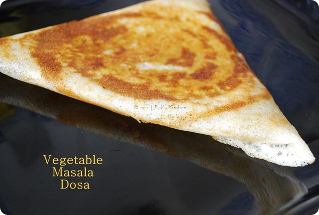 Special vegetable masala dosa - Hot chips style