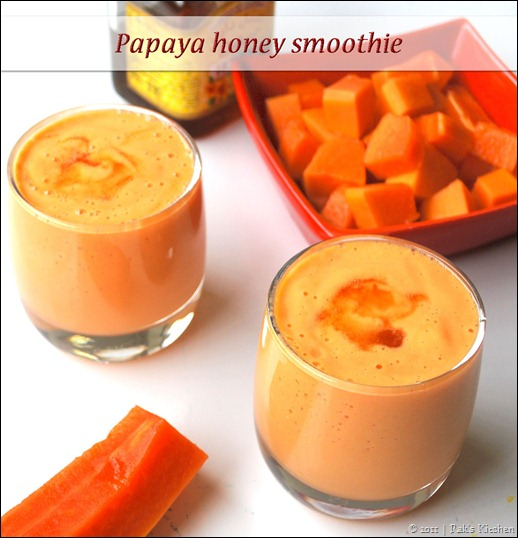 Papaya Honey Smoothie