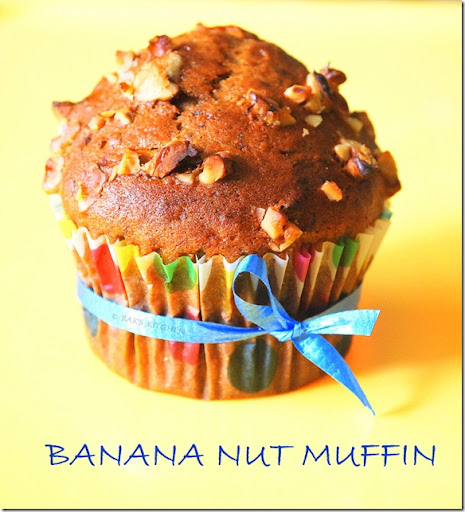 EGGLESS BANANA WALNUT MUFFIN
