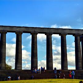 close up calton hill monument by Nic Scott - Buildings & Architecture Statues & Monuments ( monument, architecture )