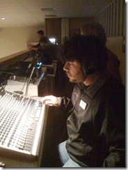 Nick Grizzle on the Sound Board