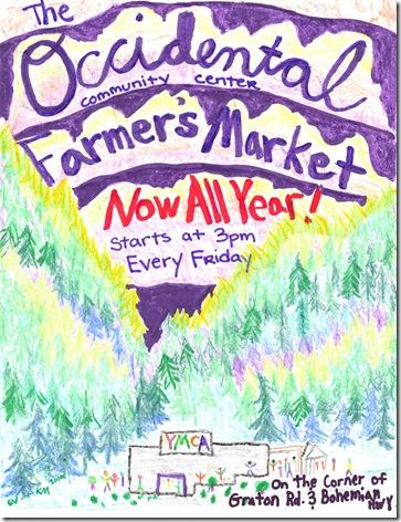 Occidental market poster