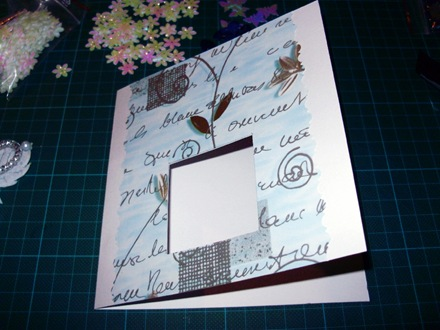 открытка-аквариум шаг 2