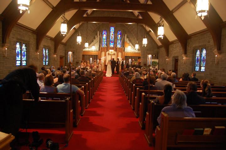 Church wedding in Plymouth, MI
