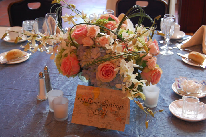 Tom Thompson wedding centerpiece