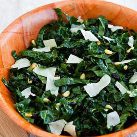 pine nuts raw kale salad with balsamic pine nuts and parmesan recept ...