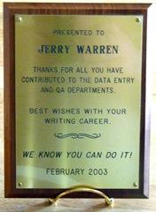 Work plaque