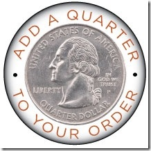 Add a quarter logo