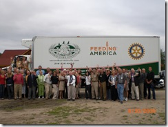 Walker Rotary Club with Rotary Truck
