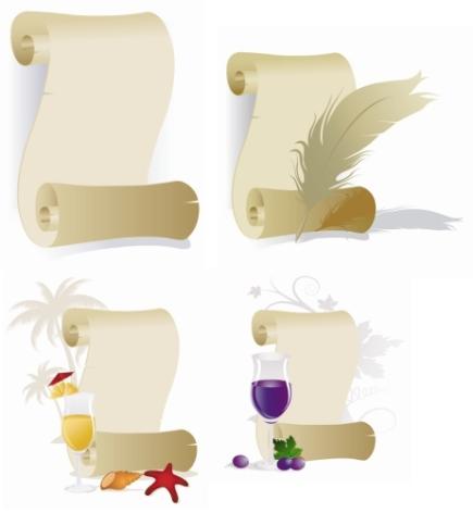 danieledu: Vectorizados de pergaminos y papiros No.2 (TDX Pack)
