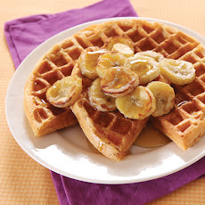 Multigrain Waffles with Caramelized Bananas