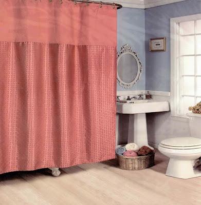 fabric jacquard shower curtain burnt orange rust 70x72 ebay