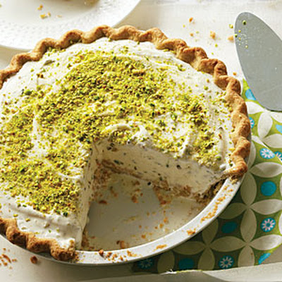 Pistachio Cardamom Ice Cream Pie
