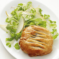 Mushroom Pies with Pear Salad