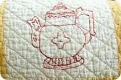 Vintage redwork quilt