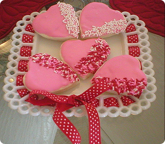 Valentines Day cookies, III