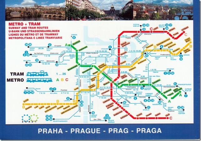 Prague City Map, Czech Republic