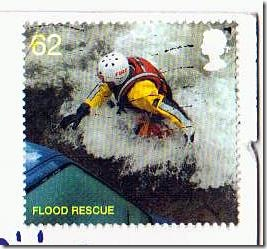 Sunday Stamps Flood Rescue