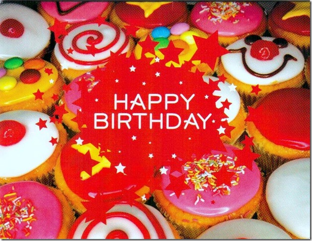 bday cupcakes card