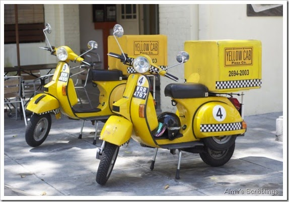 yellow Cab scooters