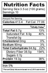 organic flour nutritional information