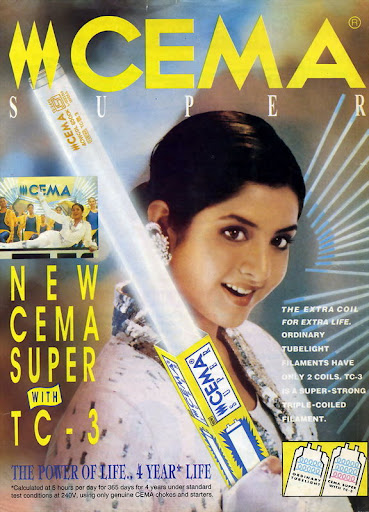 Vintage Alert: Divya Bharti in an unseen CEMA advertisement...