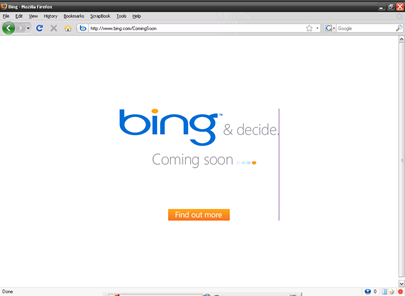 Bing: a Live search engine upgrade from Microsoft