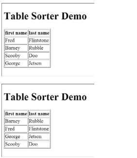 Here is a basic table.