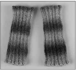 Wrist warmers are a great project on double-pointed needles.