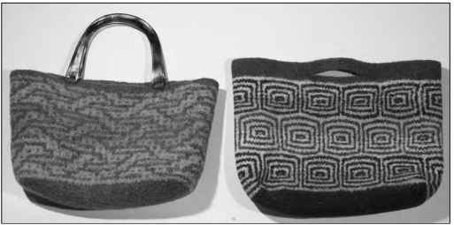 The felted mosaic purse and tote.