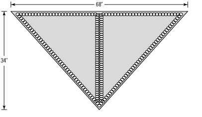 Two triangles worked together to create an easy-to-wear shawl.