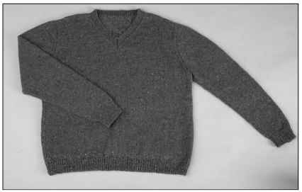 A classic V-neck sweater for men.