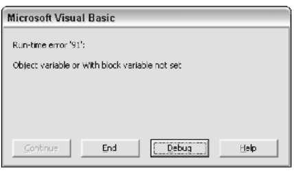 error handling techniques in excel vba