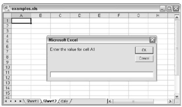 Use the VBA InputBox function to get a value from the user.