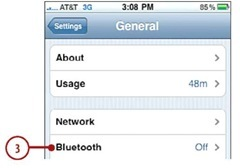Tap Bluetooth.