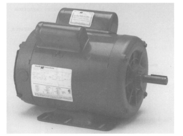 Two-value capacitor, single-phase motor.