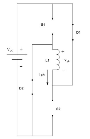 Equivalent circuit when the two switches are off.