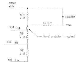general procedure for calculating the performance of permanent splitt connected multispeed psc motor