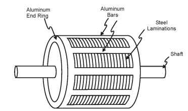 Induction motor rotor construction