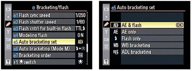Use this option to select the setting you want the camera to adjust between shots.