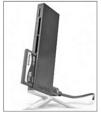 A card reader offers a more convenient method of image transfer.