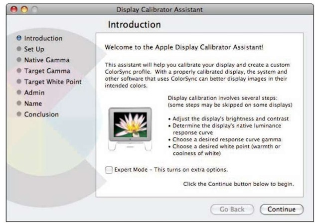 Mac users can take advantage of this built-in calibration tool.